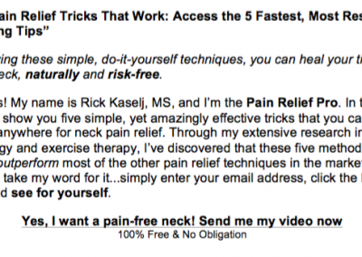 NECK PAIN RELIEF 1