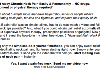 NECK PAIN RELIEF 2
